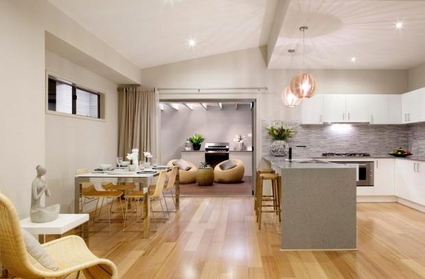 совмещенные кухня и гостиная