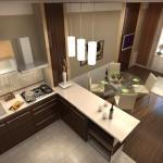 Cтоловая совмещенная с кухней 3