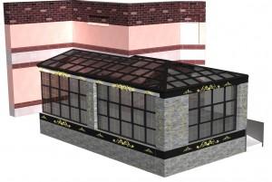 3D визуализация проекта зимнего сада