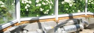 Работы по монтажу систем кондиционирования и обогрева зимних садов