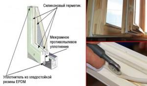 Утепление створок рам деревянного окна
