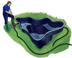 Искусственный водоем в саду!