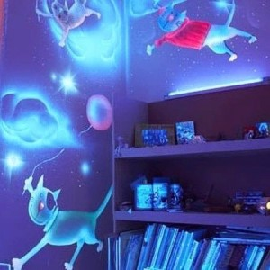 Люминесцентные, светодиодные и 3D обои