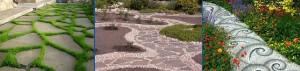 Садовые дорожки из различных пород натурального камня