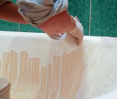 Реставрация эмали чугунной ванны