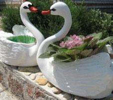 Сделать декоративного лебедя из пластиковой бутылки
