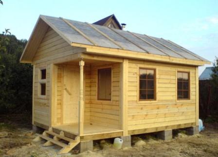 Особенности постройки бани из бруса