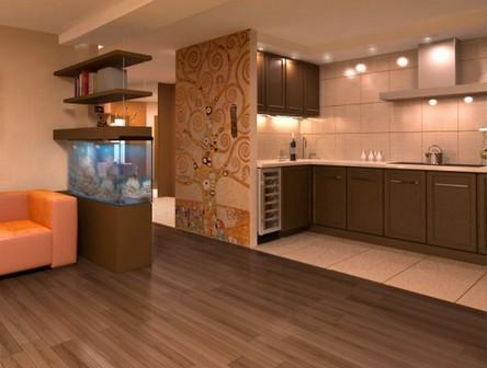 Интерьер кухни-студии