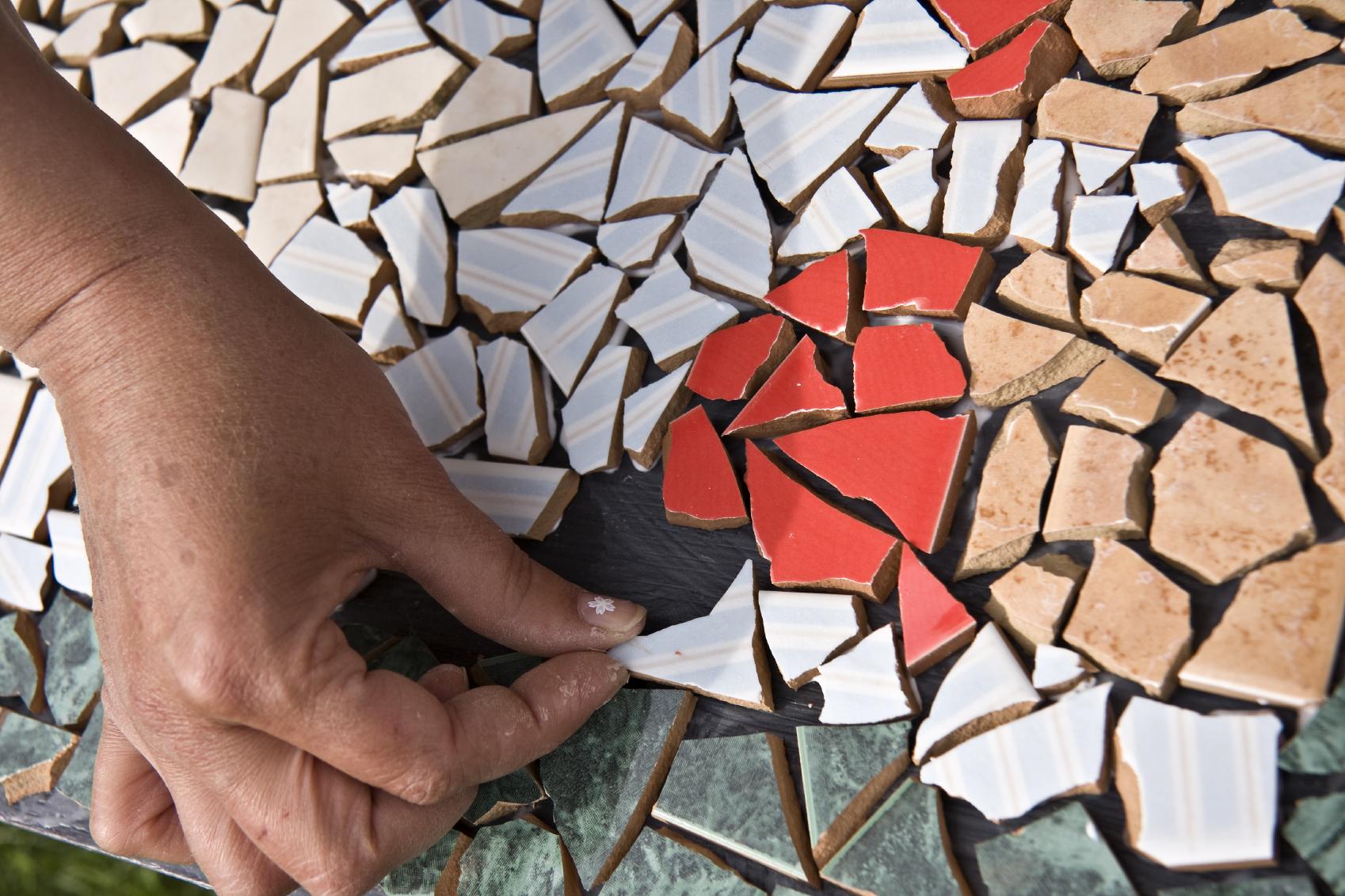 Бесплатный облицовочный материал - битая плитка