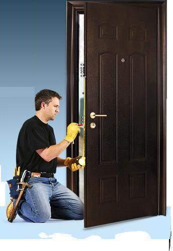 Входные металлические двери - процесс утепления