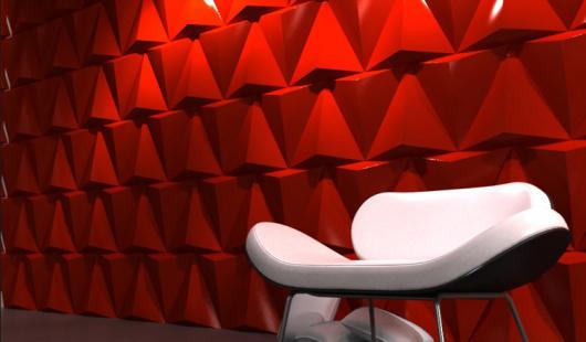 3D панели для стен в дизайне интерьера