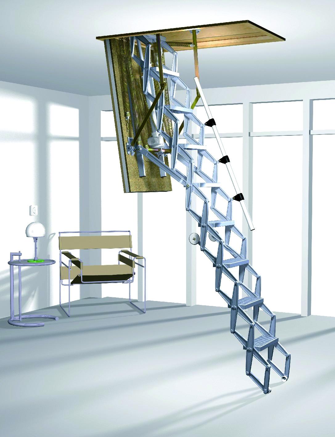 Чердачные лестницы - использование и виды