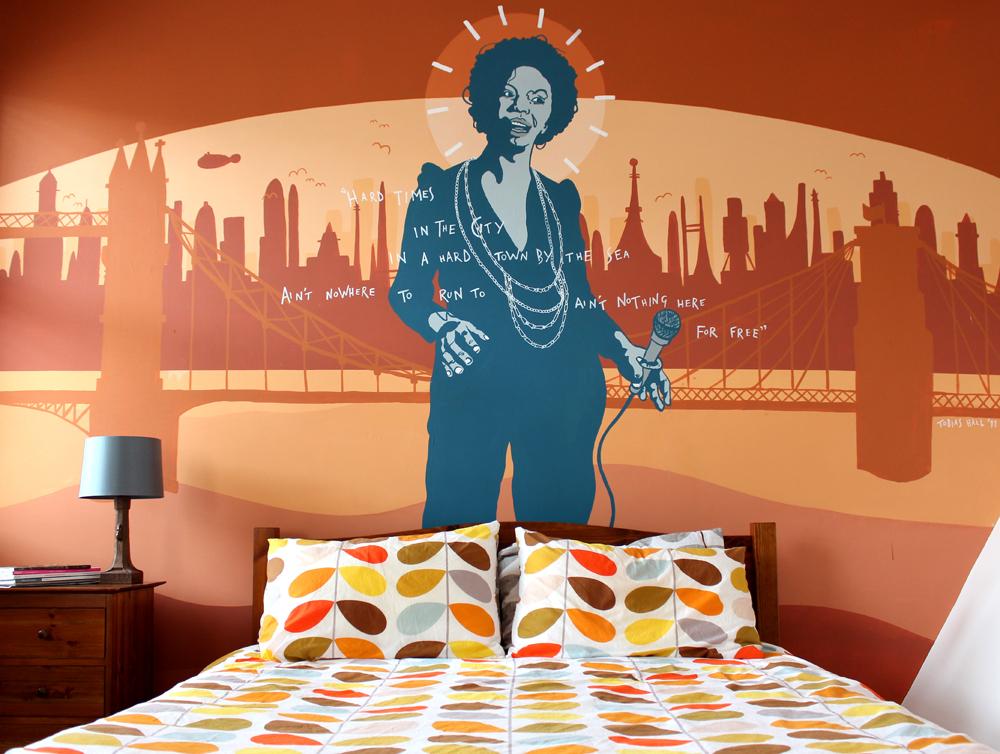 Украшаем комнату с помощью граффити