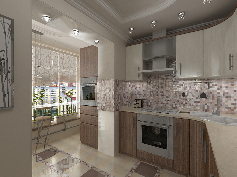 Кухня на балконе: планировка и преимущества