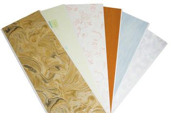 Стеновые и потолочные панели ПВХ - характеристики и монтаж