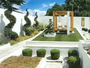 сад в стиле хай-тек