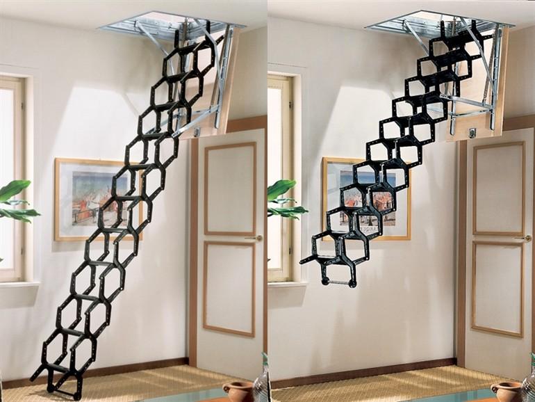 Чердачные лестницы - виды и способы использования