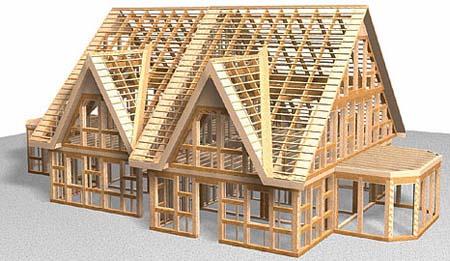 Каркасные деревянные  дома. Плюсы и важные моменты