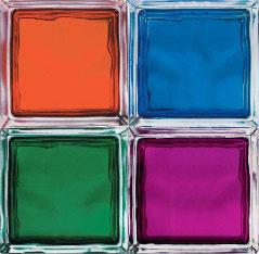 Применение стеклоблоков в интерьере и их характеристики