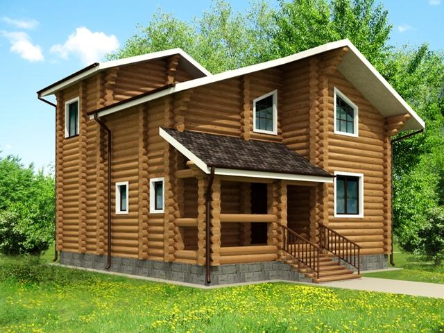 Бревенчатый дом - установка окон и реставрация