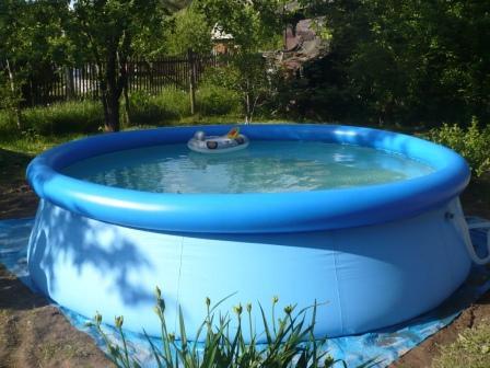 Надувной бассейн: выбор, установка и эксплуатация