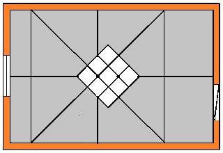 Потолочная плитка - как клеить по диагонали