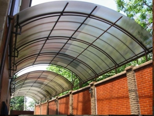 Дача - как сделать навес из поликарбоната