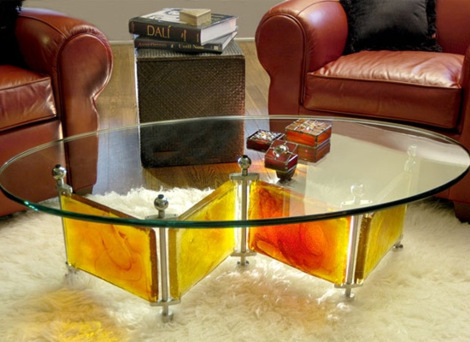 Мебель из стекла в интерьере - преимущества