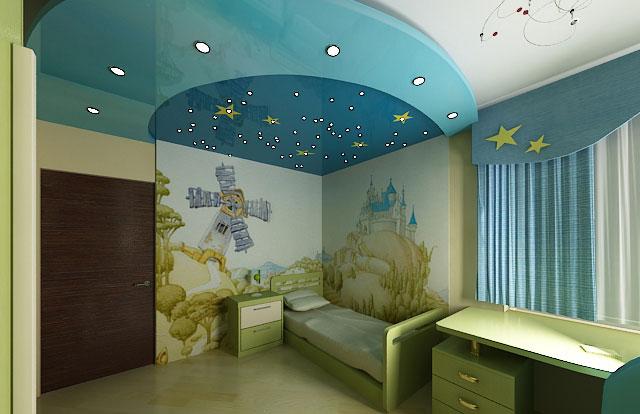 Выбор цвета для натяжного потолка для детской