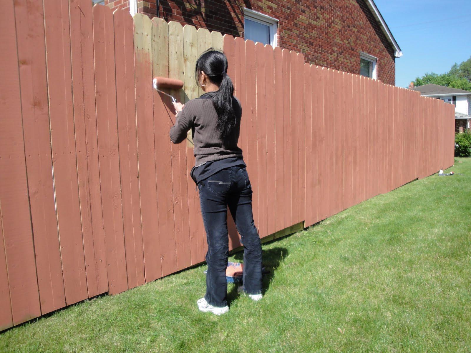 Деревянный забор: чем и как красить?