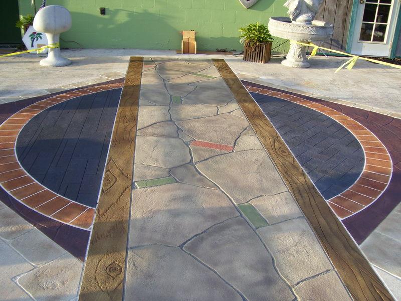 укладка декоративного бетона