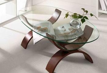 Журнальный столик в гостиную из закалённого стекла