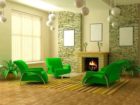 Квартира в зеленом цвете