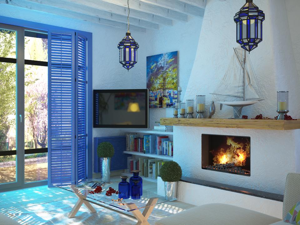 Интерьеры домов в средиземноморском стиле
