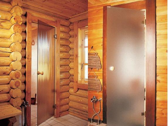 Двери для сауны и бани: требования и материалы
