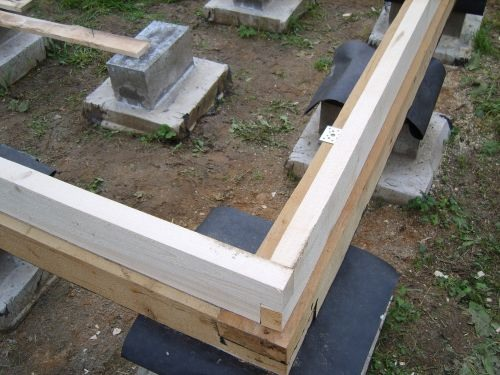 Как обвязать столбчатый фундамент брусом